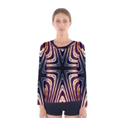 Colorful Seamless Vibrant Pattern Women s Long Sleeve Tee