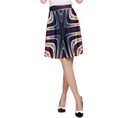Colorful Seamless Vibrant Pattern A-Line Skirt