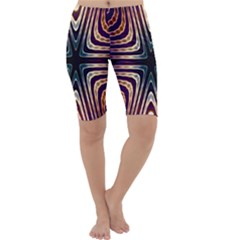 Colorful Seamless Vibrant Pattern Cropped Leggings