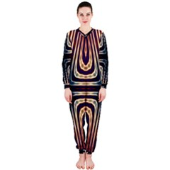 Colorful Seamless Vibrant Pattern OnePiece Jumpsuit (Ladies)