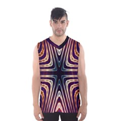 Colorful Seamless Vibrant Pattern Men s Basketball Tank Top