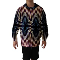 Colorful Seamless Vibrant Pattern Hooded Wind Breaker (Kids)