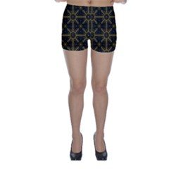 Seamless Symmetry Pattern Skinny Shorts
