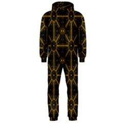 Seamless Symmetry Pattern Hooded Jumpsuit (Men)