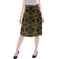 Seamless Symmetry Pattern Midi Beach Skirt