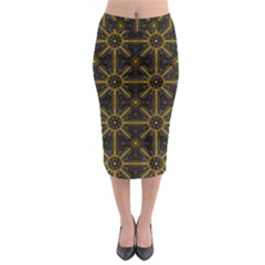 Seamless Symmetry Pattern Midi Pencil Skirt