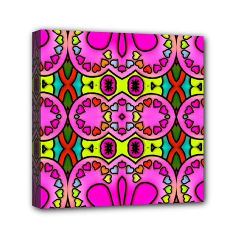 Love Hearths Colourful Abstract Background Design Mini Canvas 6  X 6