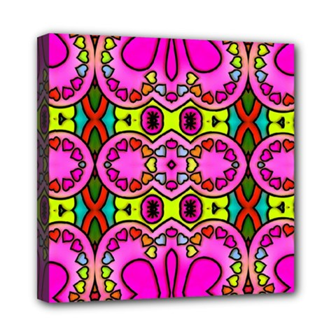 Love Hearths Colourful Abstract Background Design Mini Canvas 8  X 8