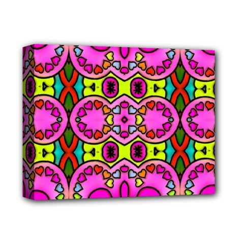 Love Hearths Colourful Abstract Background Design Deluxe Canvas 14  x 11