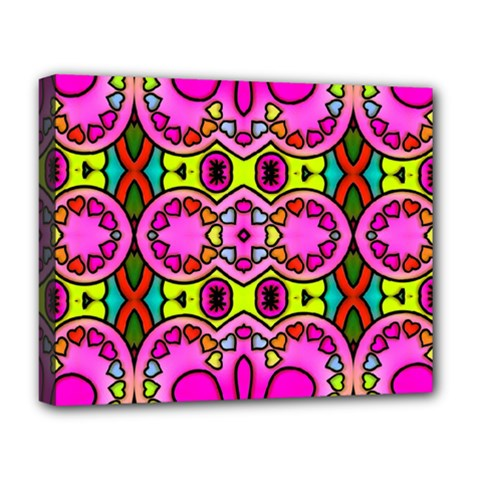 Love Hearths Colourful Abstract Background Design Deluxe Canvas 20  X 16