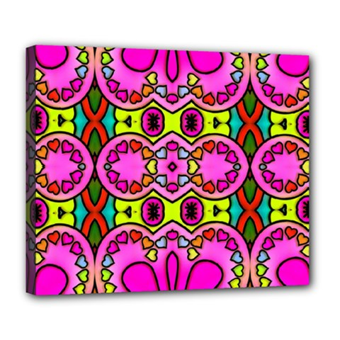 Love Hearths Colourful Abstract Background Design Deluxe Canvas 24  x 20