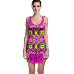 Love Hearths Colourful Abstract Background Design Sleeveless Bodycon Dress