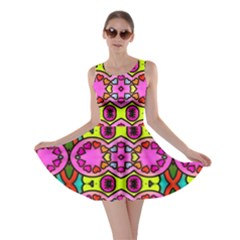 Love Hearths Colourful Abstract Background Design Skater Dress