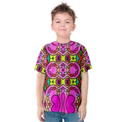 Love Hearths Colourful Abstract Background Design Kids  Cotton Tee