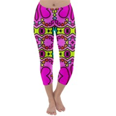 Love Hearths Colourful Abstract Background Design Capri Winter Leggings