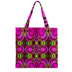 Love Hearths Colourful Abstract Background Design Zipper Grocery Tote Bag