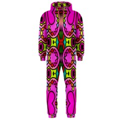 Love Hearths Colourful Abstract Background Design Hooded Jumpsuit (Men)