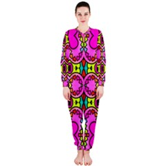 Love Hearths Colourful Abstract Background Design OnePiece Jumpsuit (Ladies)