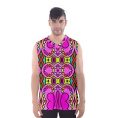 Love Hearths Colourful Abstract Background Design Men s Basketball Tank Top