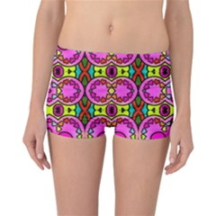 Love Hearths Colourful Abstract Background Design Reversible Bikini Bottoms