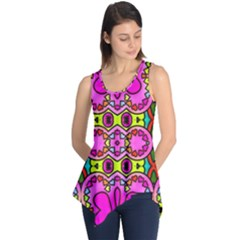 Love Hearths Colourful Abstract Background Design Sleeveless Tunic