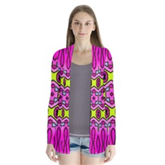 Love Hearths Colourful Abstract Background Design Cardigans