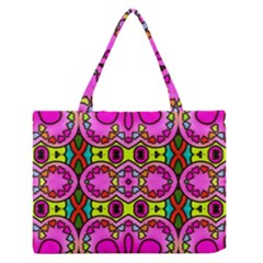 Love Hearths Colourful Abstract Background Design Medium Zipper Tote Bag