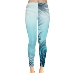 Feathery Background Leggings