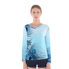 Feathery Background Women s Long Sleeve Tee