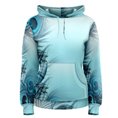Feathery Background Women s Pullover Hoodie