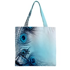 Feathery Background Zipper Grocery Tote Bag