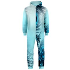 Feathery Background Hooded Jumpsuit (men)