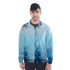Feathery Background Wind Breaker (men)