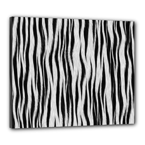 Black White Seamless Fur Pattern Canvas 24  X 20
