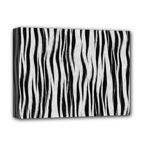 Black White Seamless Fur Pattern Deluxe Canvas 16  x 12