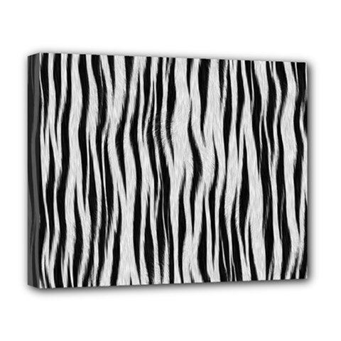 Black White Seamless Fur Pattern Deluxe Canvas 20  X 16