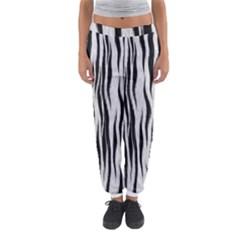 Black White Seamless Fur Pattern Women s Jogger Sweatpants