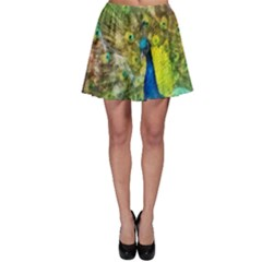Peacock Digital Painting Skater Skirt