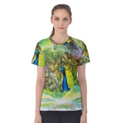 Peacock Digital Painting Women s Cotton Tee