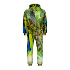 Peacock Digital Painting Hooded Jumpsuit (kids)