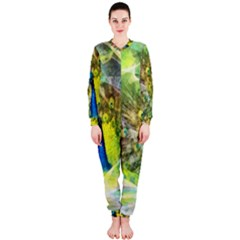 Peacock Digital Painting OnePiece Jumpsuit (Ladies)