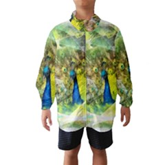 Peacock Digital Painting Wind Breaker (Kids)