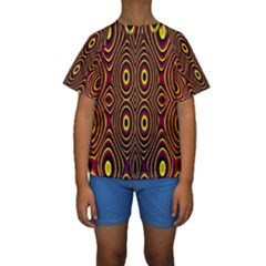 Vibrant Pattern Kids  Short Sleeve Swimwear