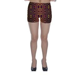 Vibrant Pattern Skinny Shorts