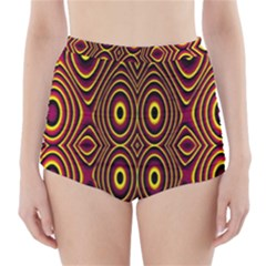 Vibrant Pattern High-Waisted Bikini Bottoms