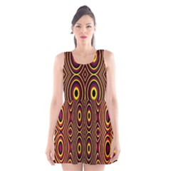 Vibrant Pattern Scoop Neck Skater Dress