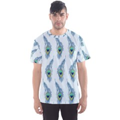 Background Of Beautiful Peacock Feathers Wallpaper For Scrapbooking Men s Sport Mesh Tee
