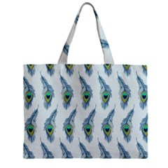Background Of Beautiful Peacock Feathers Wallpaper For Scrapbooking Mini Tote Bag