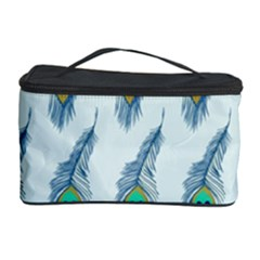Background Of Beautiful Peacock Feathers Wallpaper For Scrapbooking Cosmetic Storage Case