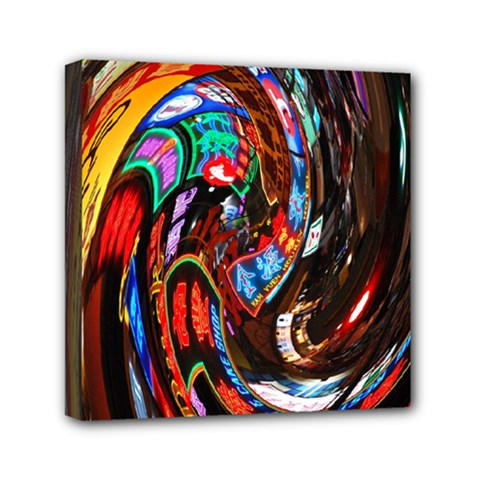 Abstract Chinese Inspired Background Mini Canvas 6  X 6